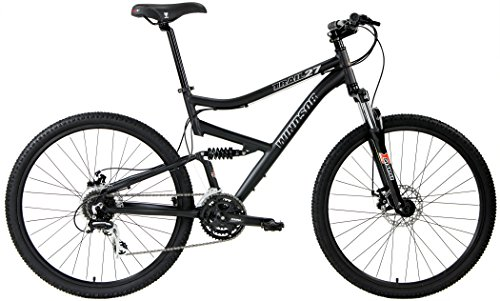 2017 Windsor Trail 27.5 Dual Full Suspension Mountain Bike Disc Brakes Shimano (Matt Black, 17in)