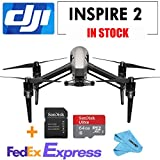 DJI INSPIRE 2 Drone Quadcopter,2-axis FPV camera,67mph(108kph) max speed + 64G SD Card