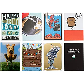 Hallmark Shoebox Funny Birthday Card Assortment 8 Cards With Envelopes