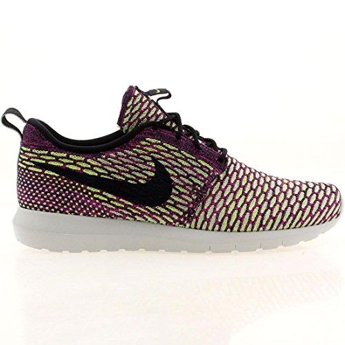NIKE Flyknit Rosherun Hommes Sneaker Vert 677243 400