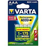Varta Rechargeable Batteries NiMH 800 mAH 4 x AAA Pack