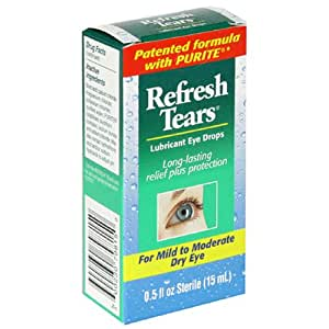 Allergan Refresh Tears Lubricant Eye Drops, 0.5-Ounce Bottle (Pack of 2)