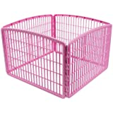 IRIS 4-Panel without Door Plastic Pet Playpen
