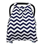 BabyNue Carseat Canopy Cover For Boy or Girl (Blue)   Perfect Baby Shower Gift!