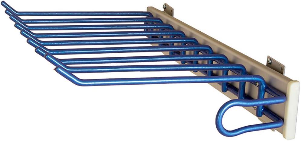 9 Paires de cintres pour Pantalons pour penderie-460mm Color : Left FKKURACK Porte-Pantalons Coulissant Rail de Suspension Extensible pour Porte-Cravates