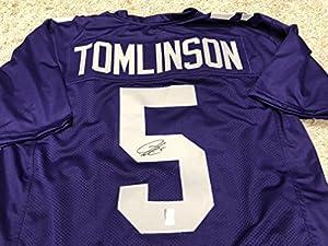 LaDainian Tomlinson Autographed Signed TCU Horn Frogs Custom Jersey GTSM LT COA & Hologram