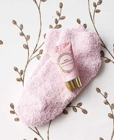 (Cozy Sock and Lotion Gift-Boxed Sets Pink Grapefruit)