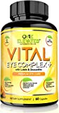 One Elevated Vital Eye Complex+ Supplement with Lutein, Zeaxanthin, Lycopene, Beta Carotene & Ginkgo Biloba – 60 Count