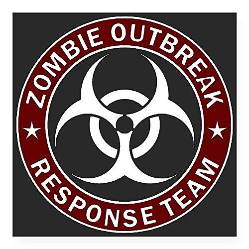 CafePress Zombie Outbreak Response Sticker