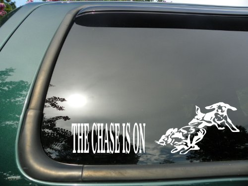 Chase Is on Rabbit- Die Cut Vinyl Window Decal/sticker for sale  Delivered anywhere in USA