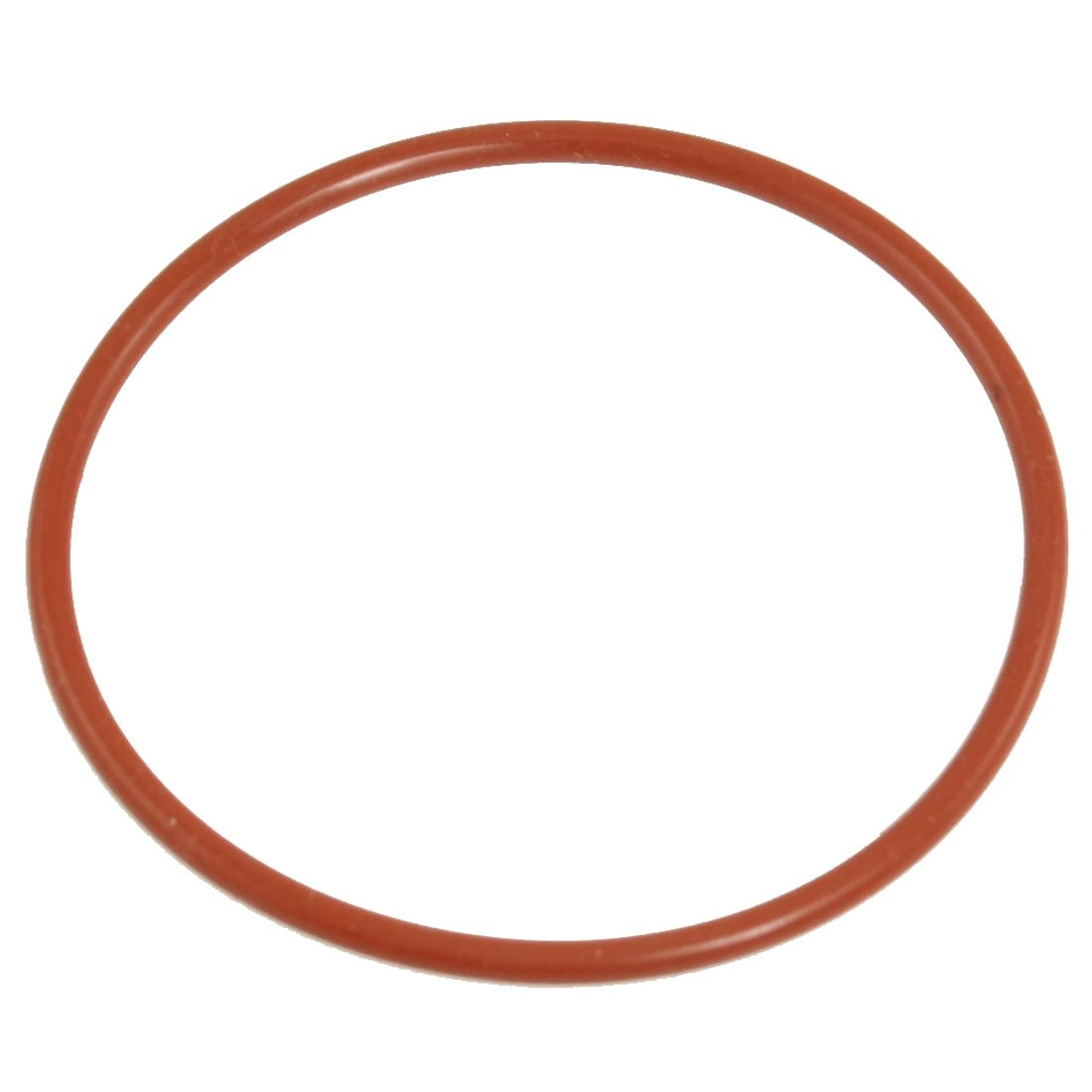 uxcell 70mm Outside Dia 3mm Thick Flexible Silicone O Ring Seal Brick Red
