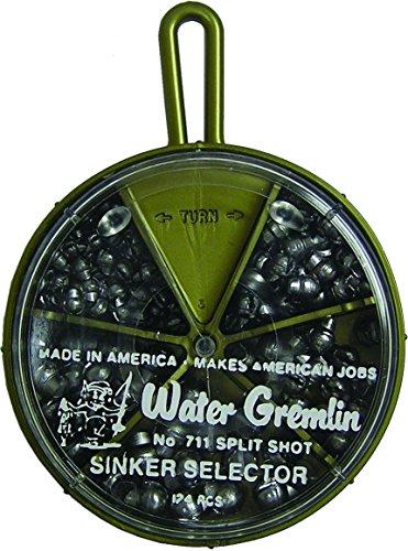 Water Gremlin Removable Split Shot Selector, 48ea/BB, 36ea/3/0, 16ea/7, 12ea/5, -