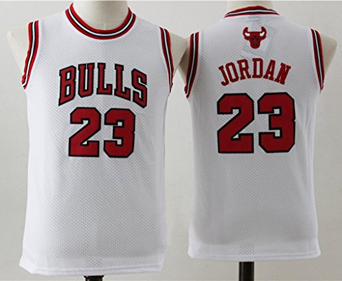Youth Chicago Bulls Michael Jordan #23 Basketball Jersey White M (Michael Jordan Champion Jersey compare prices)