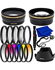 Ultimaxx 49mm Filter Accessory Kit for Canon EOS M6, EOS M6 Mark II, EOS M50, EOS M50 Mark II, EOS M100, EOS M200 & More - Includes: 6PC Gradual Color Filter Kit, 4PC Close-Up Lens Filter Kit & More