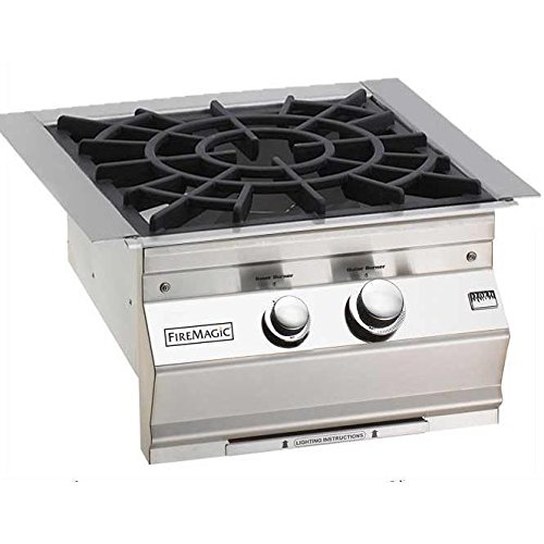 Fire Magic Aurora Built-in Propane Gas Power Burner With Porcelain Cast Grid - 19-slb2p-0