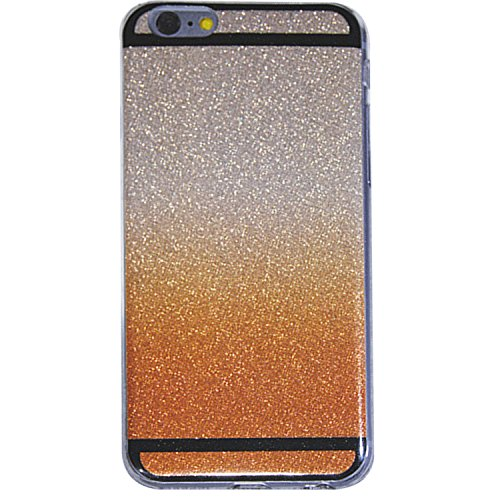 iphone SE Case, Bling Glitter Gradient Colour Gradual from Starlight silver to sunset gold Candy Soft TPU Cover Case for iPhone5S and iPhone 5SE ( change gold silver )