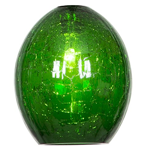 Studio C - Shade - Jade Crackle (Colored Glass Pendant)