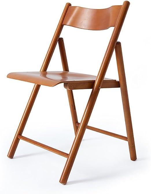 Chair QL sillones Plegables Silla de Aprendizaje Sillas Plegables de Madera Maciza Silla de Comedor de