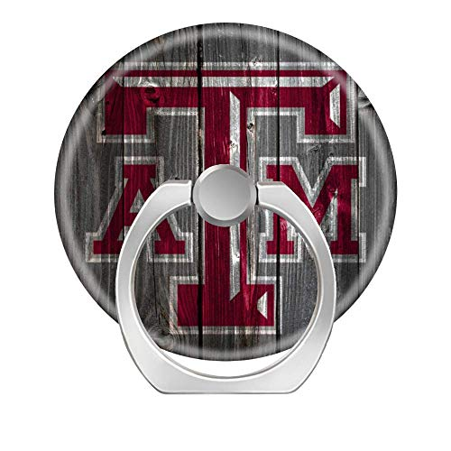 Texas A&m University Pedestal - Lovesup Expanding 360 Rotation Cell Phone Socket Ring Holder,Mobilephone Kickstand Pop with Car Mount Grip for All Smartphones,Cases,Tablets-Texas A&M University.