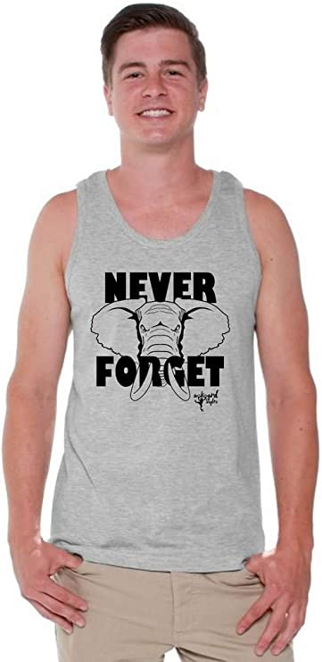 Bookmark Awkwardstyles Mens an Elephant Never Forget Tank Top Animal Tank