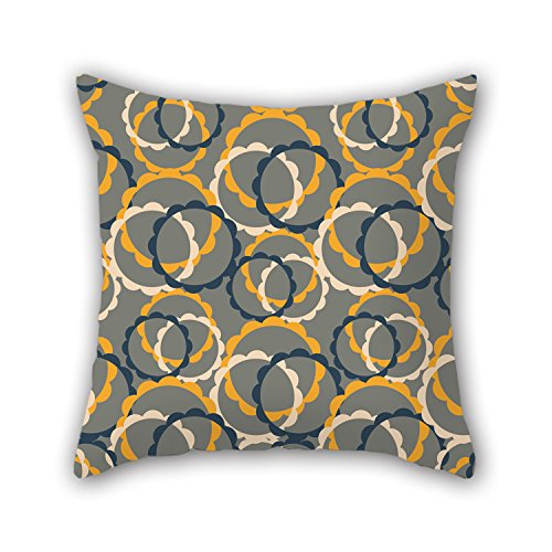 Uloveme Circle Throw Cushion Covers 18 X 18 Inches / 45 By (Team Aqua Theme Deck)