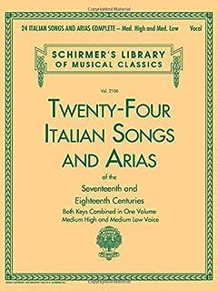 Book only Medium High Voice 24 Italian Songs /& Arias