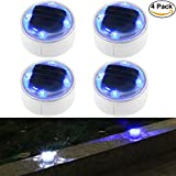 SunBonar Solar Ground Lights Solar Lights Outdoor Pool Fountain Pathway IP68 Waterproof Solar Dock Lights LED Deck Lights Landscape Lights Garden Step Driveway Fence Patio (4 Pack)