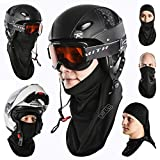 Multipurpose Balaclava Full Face Ski Mask 2 Pack - Regular & Winter Protection with Microfleece ✪ Best Cold Weather Gear for Your Outdoor Work, Sports & Recreation ✪ Unisex for Men & Women, Kids