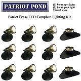 Patriot Brass LED Waterproof Pond and Landscape Lighting 39 Watt Light Kit P-F4