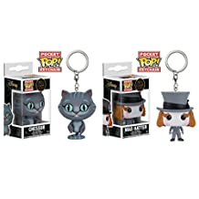 Disney Alice Through The Looking Glass Chessur and Mad Hatter Pocket Pop Keychain Bundle by Disney