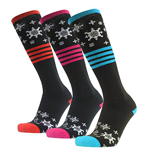Gmark Unisex 3 Packs Mix It Up High Socks For Basketball,Training,Flight Travel