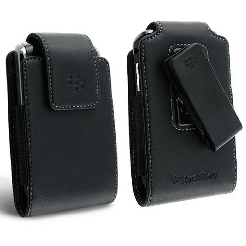 OEM BlackBerry Curve 9380 9370 9360 GENUINE LEATHER CASE SWIVEL CLIP HOLSTER POUCH (Blackberry Curve 9360 Accessories)