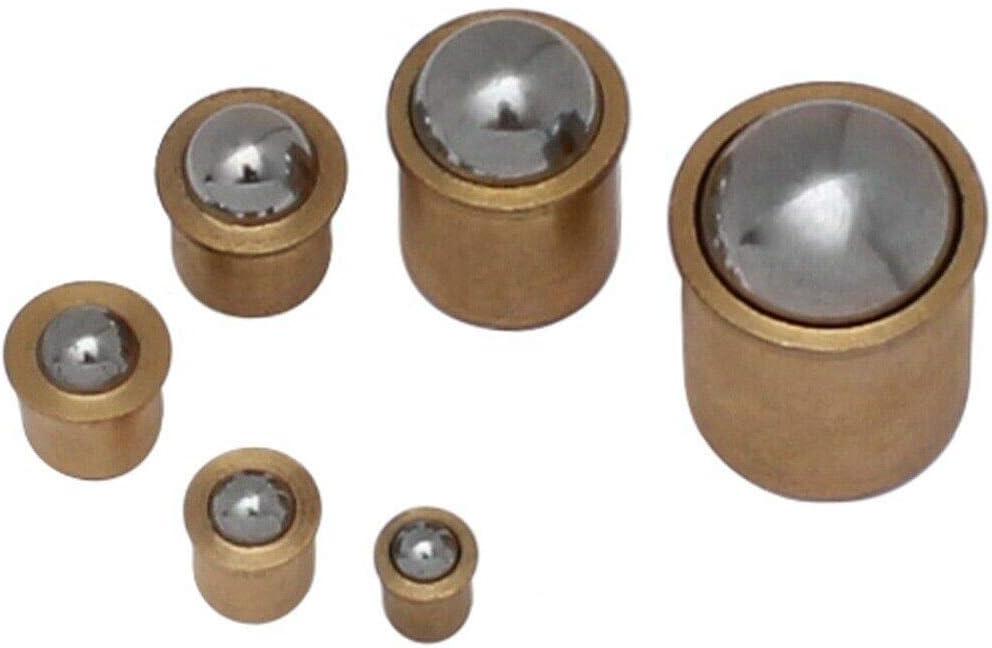 Kugelschn/äpper zum Einpressen in 6 Gr/ö/ßen zum ausw/ählen von 5mm /Ø9,5x9mm mit Schlie/ßblech 16,5mm