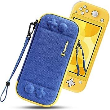 tomtoc Funda Delgada para Nintendo Switch Lite, Patente Original Estuche Rígido con cartuchos para 8 Tarjetas de Juegos, Funda Dura Transporte con Proteción de Nivel Militar, Azul: Amazon.es: Electrónica