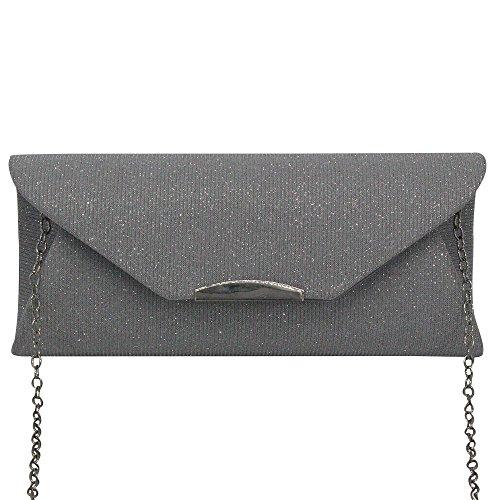 Handbag Wiwsi Fashion Purse Women Female Bag Ladies Shoulder Trim Evening Silver Clutch Red A0HAwRnq