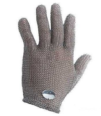 Stainless Steel Mesh Hand Glove - Cut Resistant (M) by Whizard