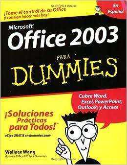 Book Office 2003 Para Dummies (Spanish Edition)