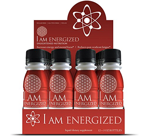 I Am Energized Natural Fast Acting Liquid Energy Shot, Guayusa, 12 Count