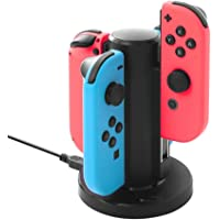 Soyan Charging Dock Compatible with Switch Joy Con, Charges 4 Joy-Con Controllers Simultaneously