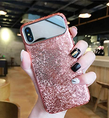 Losin Mosaic Case Compatible with Apple iPhone 7 Plus/iPhone 8 Plus 5.5 Inch Case Fashion Luxury Lovely Electroplate 3D Mosaic Pattern Geometric Motif Make Up Mirror Soft TPU Case Cover