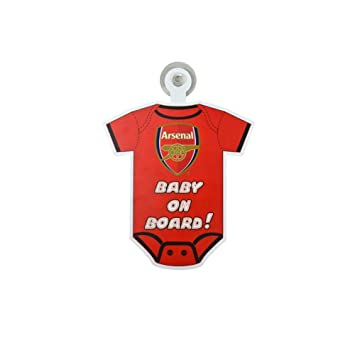 Arsenal FC Kit Baby on Board Car Sign  Amazon.co.uk  Car   Motorbike d891bd092