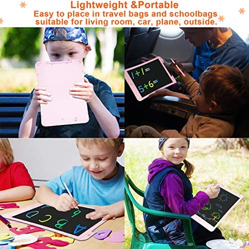 10-INCH LCD WRITING TABLET, ELECTRONIC DRAWING TABLET WITH LOCK FUNCTION,DOODLE BOARD EDUCATIONAL PAINTING NOTES BOARD BIRTHDAY GIFT FOR KIDS AND ADULTS AT HOME,SCHOOL AND OFFICE (PINK)
