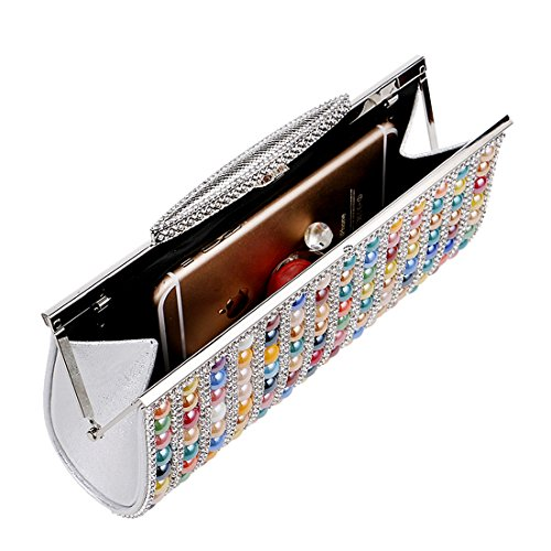 SSMK Evening Bag - Cartera de mano para mujer multicolor multicolor