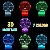 LED NBA Team 3D Optical Illusion Smart 7 Colors