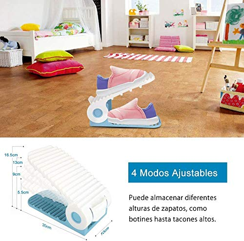 bedee Organizador Zapatos Infantil, Zapateros Niños,Soporte Ajustable de Zapatos Organizar Zapatos,Armarios Zapateros Set de 10 pcs