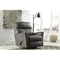 Ashley Furniture Signature Design - Tullos Rocker Recliner Chair - Manual Reclining - Contemporary Style - Slate