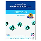 Hammermill 105007 Copy Plus Copy Paper, 92 Brightness, 20lb, 8-1/2 x 11, White (Case of 5000 Sheets)