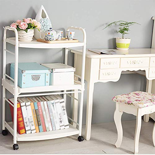 Kitchen Cart Plastic Multi-Layer, Storage Rack with Wheel Cart for Living Room Bathroom, Kitchen Household Items for Various Things by Kitchen Cart (Image #6)