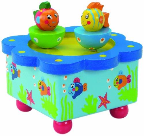 MusicBox Kingdom 44049 Dancing Fishes Music Box Playing