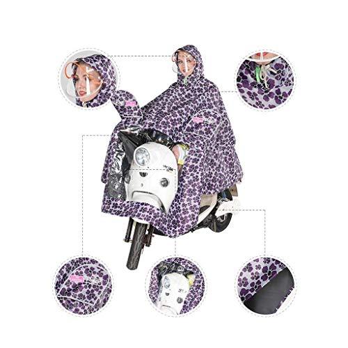 Giovane Specchio B Oxford Singolo Panno Bici Cappello Doppio Aumento Del Impermeabile Striscia Ispessimento Donne Moto Anaisy Riflettente Poncho P6WqTnT